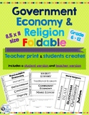 Government, Economy & Religion Foldable