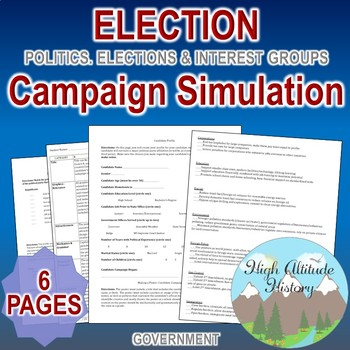 Election Campaign Simulation (Government / Civics)