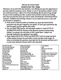 Government: End of the year Movie list extra credit