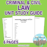 Individual Rights, Criminal Law, Civil Law & Internet Study Guide (Government)