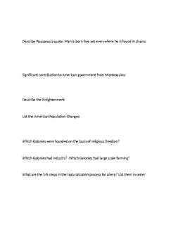 Intro Government Unit American People & Roots Democracy Study Guide (Government)