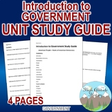 Introduction to Government Study Guide