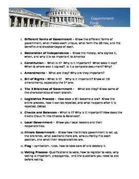 Government Final: Study Guide