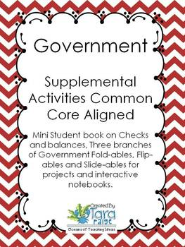 Government Foldables and Student Response Mini Book