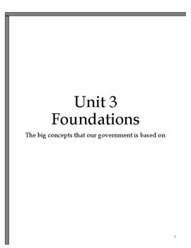 Government Foundations
