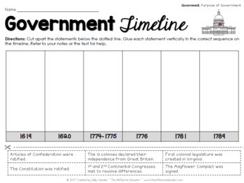 Social Studies Worksheets | Government FREE