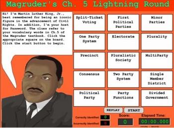 Government Game -  Political Parties Vocabulary  - Bill Burton