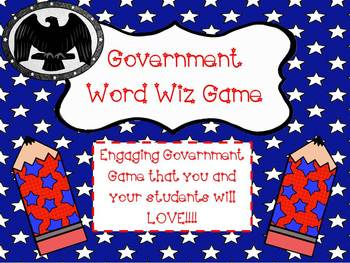 Government Game: Word Wiz {((Similar to Catch Phrase! Stud