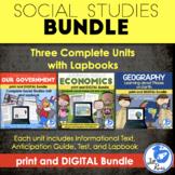 Government, Geography, Economics Print & Digital Bundle Distance Learning