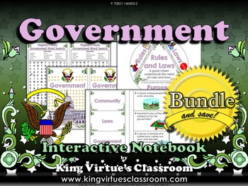 Government Interactive Notebook BUNDLE - King Virtue's Classroom