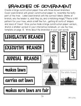 Government Interactive Notebook Fun