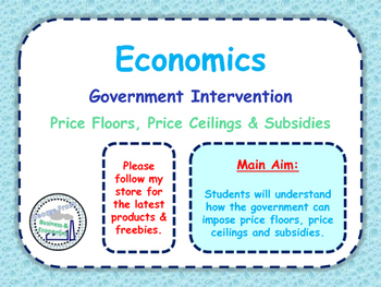 Government Intervention - Price Floors, Price Ceilings, Subsidies & Gov Failure