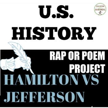 Government Jefferson versus Hamilton Rap Project EDITABLE