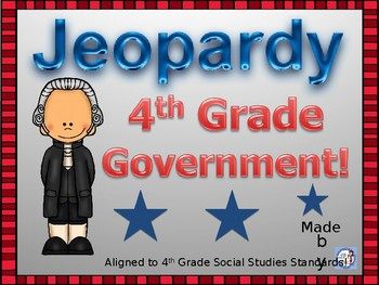 Government Jeopardy Game for 4th Grade Social Studies