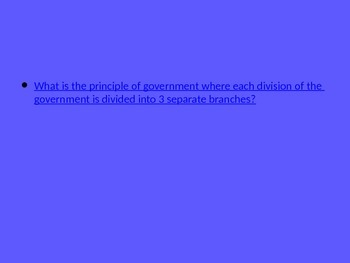 Government Jeopardy Review Game