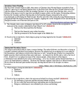 Government, Law, and Religion - Reading Comprehension Exam Modified Version