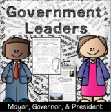 Government Leaders: Mayor, Governor, President - 1st & 2nd Social Studies