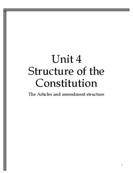 Government Made Simple-Constitution Structure and Amendments