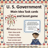 Government Main Idea Task Card and Scoot