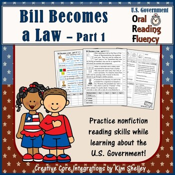 Government Nonfiction Fluency - Bill Becomes Law 1