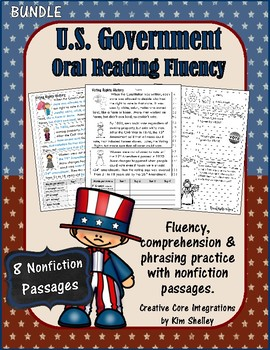 Government Nonfiction Fluency Passages BUNDLE