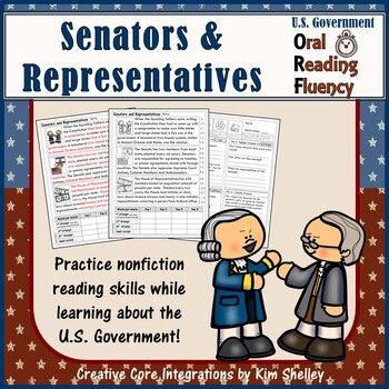 Government Nonfiction Fluency - Senators and Representatives