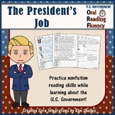 Government Nonfiction Fluency - The President's Jobs