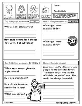 Government Nonfiction Fluency - Voting Rights