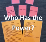 Government Obligations and Powers Card Game