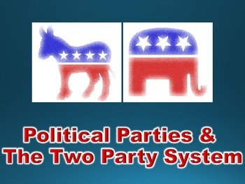 Political Parties & Two Party System PowerPoint (Governmen