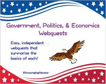 Government, Politics, and Economics Webquests