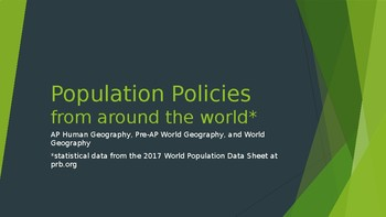 Government Population Policies (from around the world)