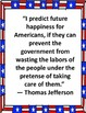 Government Posters- Quotes for American Government