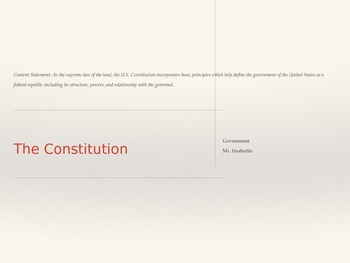 Government Powerpoint The Constitution