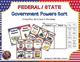 Government Powers Sort (Federal/State)