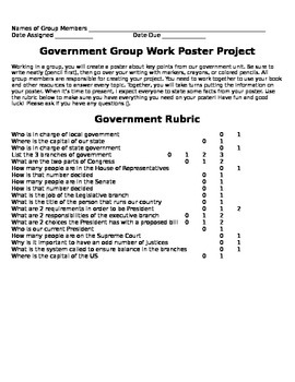 Social Studies: Government Project