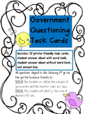 Government Questioning Task Cards