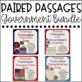 Government Reading Comprehension Bundle {Paired Passages}