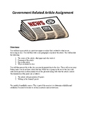 Government Related Article Assignment