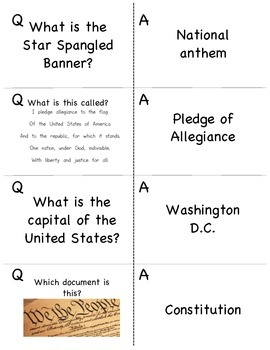 Government Review or Activity Cards