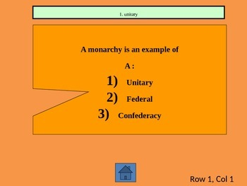 Government Review: political beginnings, types of government and US influences