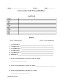 Government Root Words Activity and Answer Key