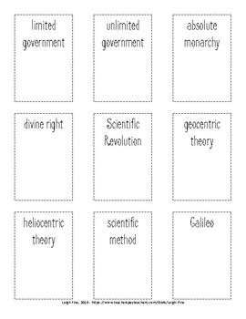 Government, Scientific Revolution, and Enlightenment Headbandz Cards