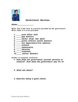 Government Services  Quiz