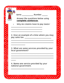 Government Services and Taxes