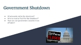 Government Shutdown 2018 Current Events Lesson Plan