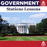 Government Stations Lessons - 8 Editable Stations