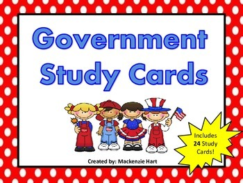 Government Study Cards