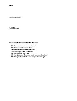 Government Study Guide