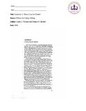 Torture Research Essay Unit